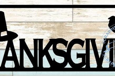 Thanksgiving Scrapbook Title