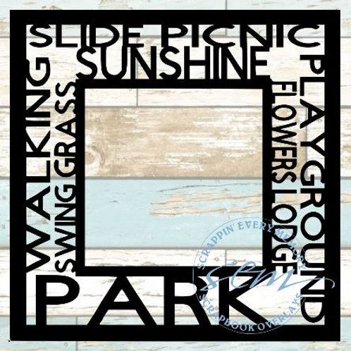 Park Tag Text Scrapbook Overlay