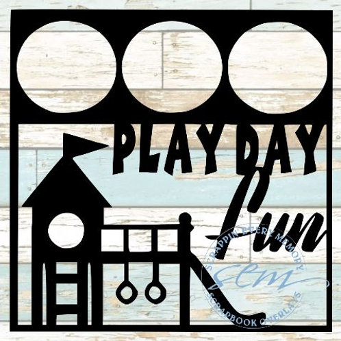 Play Day Fun Scrapbook Overlay