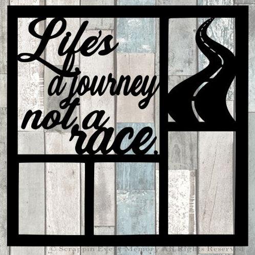 Life's A Journey Not A Race Scrapbook Overlay