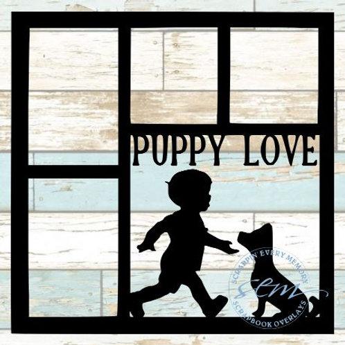 Puppy Love Scrapbook Overlay