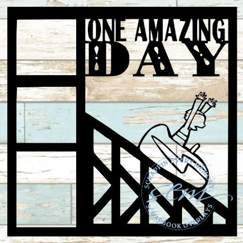 One Amazing Day Scrapbook Overlay