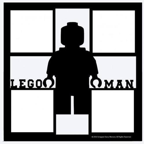 Lego Man Scrapbook Overlay