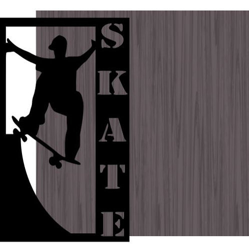 Skate Vertical Scrapbook Title