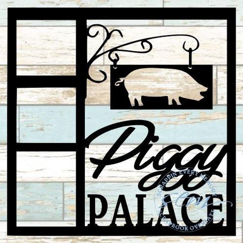 Piggy Palace Scrapbook Overlay