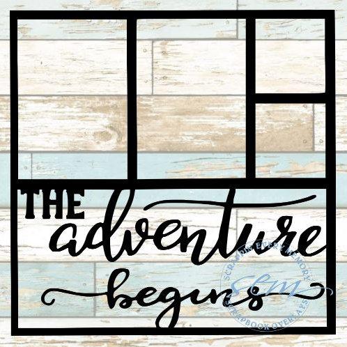 The Adventure Begins Scrapbook Overlay
