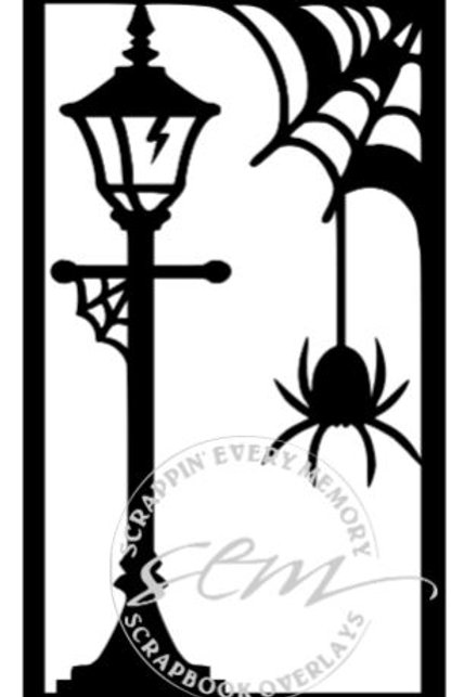 Halloween Spider Vertical Scrapbook Title