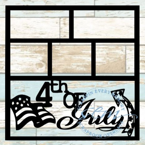 4th Of July Scrapbook Overlay