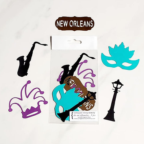 New Orleans Die Cut Silhouette Mini Set
