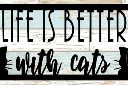 Life Is Better With Cats Scrapbook Title