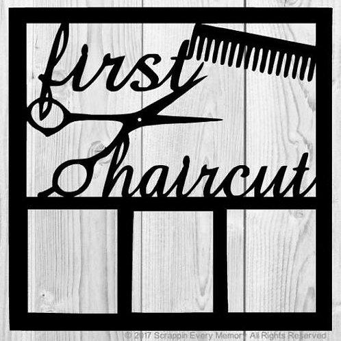 First Haircut Scrapbook Overlay