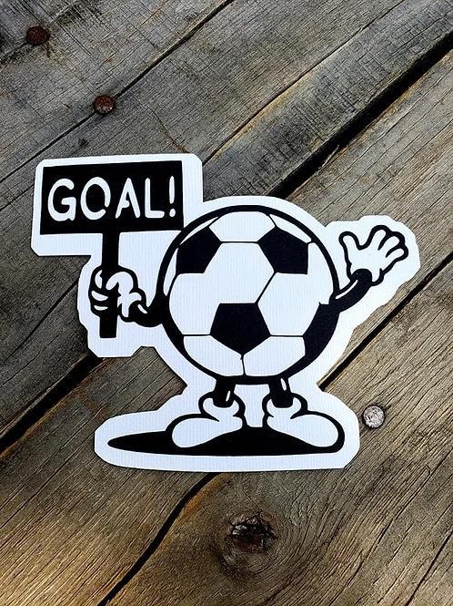Goal Soccer Ball Paper Piecing Die Cut