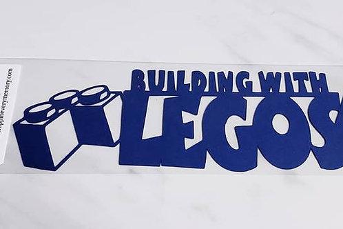 Building With Legos Scrapbook Deluxe Die Cut