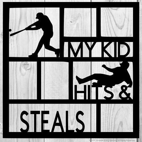 My Kid Hits & Steals Scrapbook Overlay