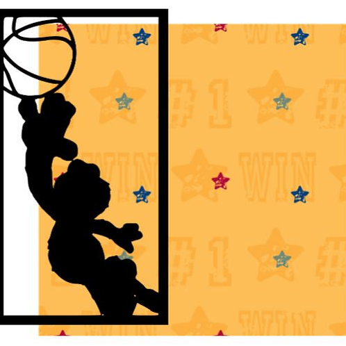 Basketball Elmo Vertical Scrapbook Title
