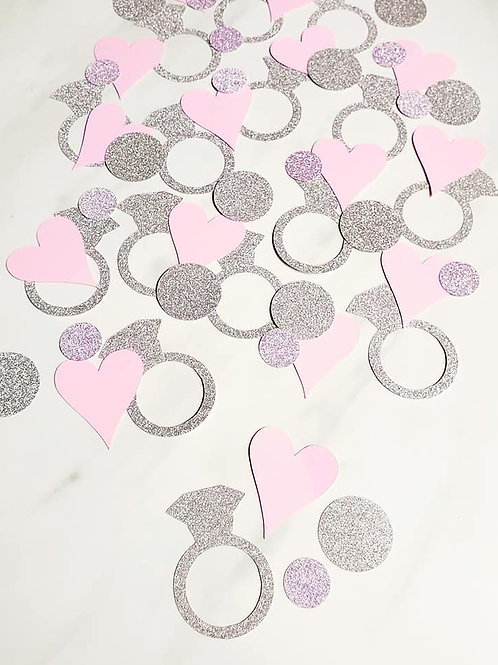 Rings and Hearts Scrapbook Page Confetti