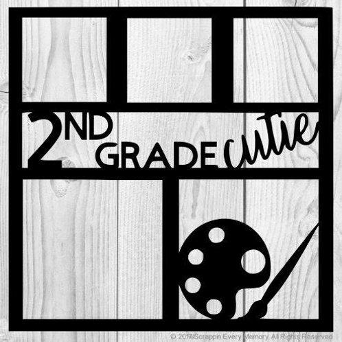 2nd Grade Cutie Scrapbook Overlay