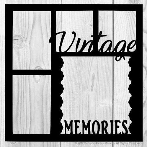 Vintage Memories Scrapbook Overlay