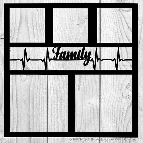 Family Heartbeat Scrapbook Overlay