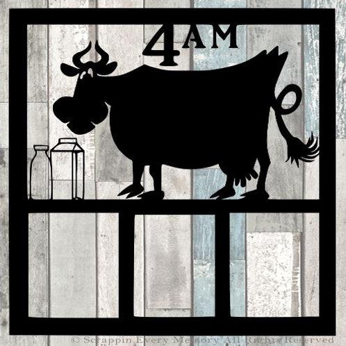 Cow Milking Scrapbook Overlay