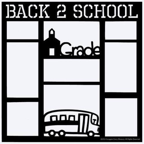 Back 2 School Scrapbook Overlay