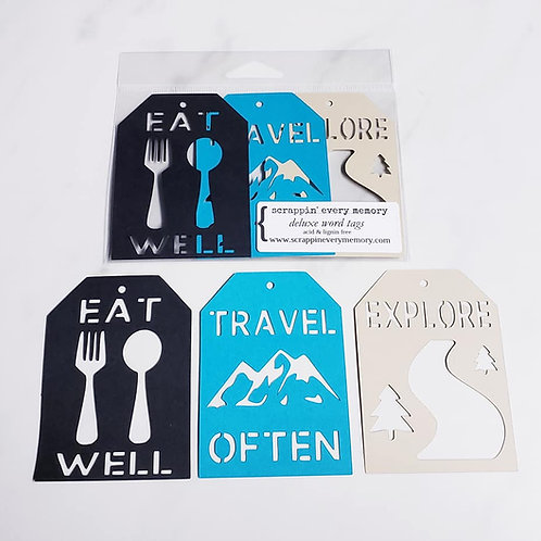 Travel Often Deluxe Word Tags