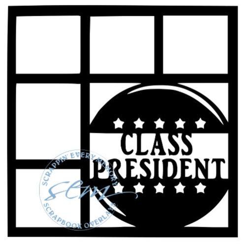 Class President Scrapbook Overlay