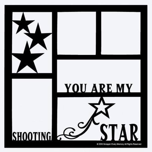 You Are My Shooting Star Scrapbook Overlay