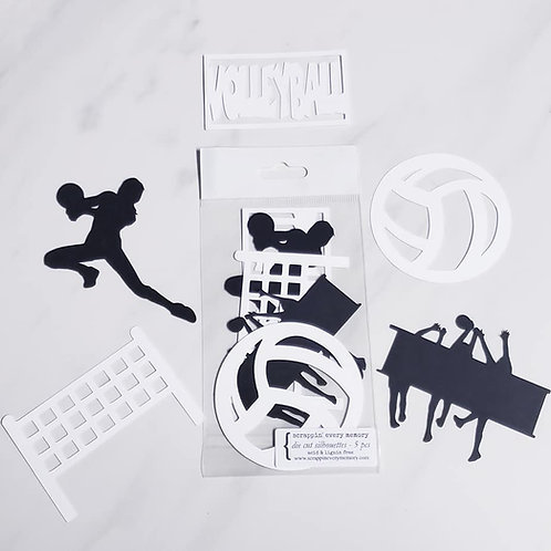 Volleyball Die Cut Silhouette Mini Set