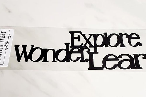 Explore. Wonder. Learn. Scrapbook Deluxe Die Cut