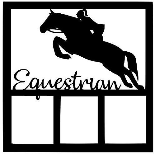 Equestrian Female Scrapbook Overlay
