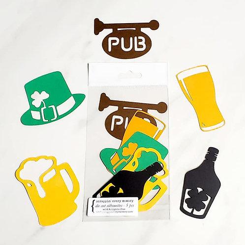 Irish Pub Die Cut Silhouette Mini Set