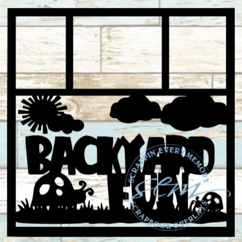 Backyard Fun Scrapbook Overlay