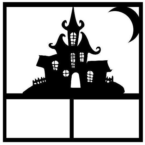 Haunted House Scrapbook Overlay
