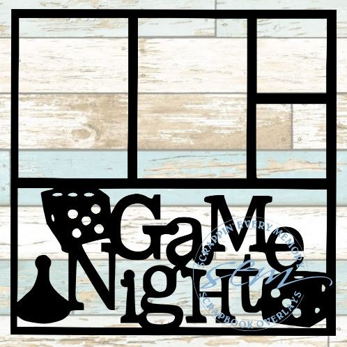 Game Night Scrapbook Overlay
