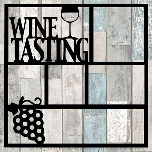 Wine Tasting Scrapbook Overlay
