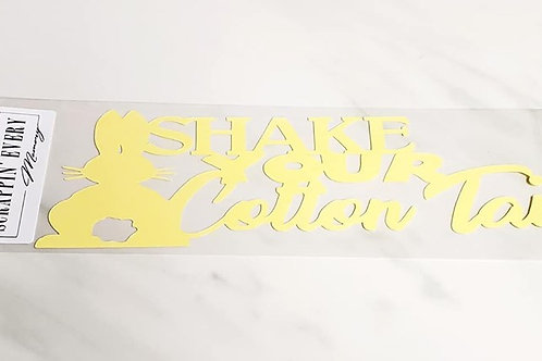 Shake Your Cotton Tail Scrapbook Deluxe Die Cut