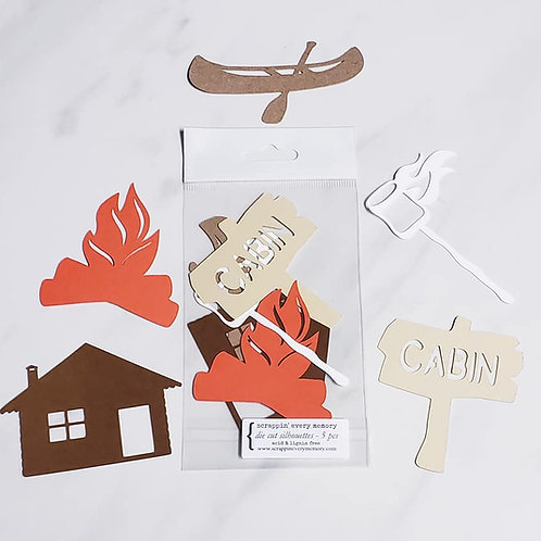 Cabin Theme Die Cut Silhouette Mini Set