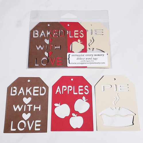 Baked With Love Deluxe Word Tags
