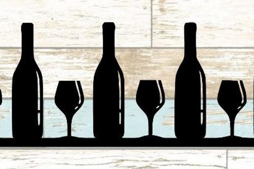 Wine & Bottles Scrapbook Border
