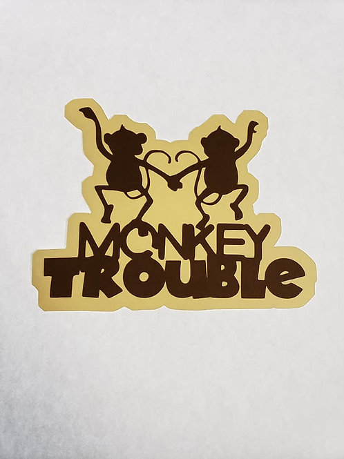 Monkey Trouble Paper Piecing Die Cut