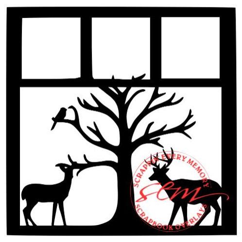 Christmas Deer Scrapbook Overlay