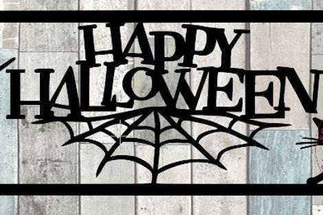 Happy Halloween Scrapbook Title