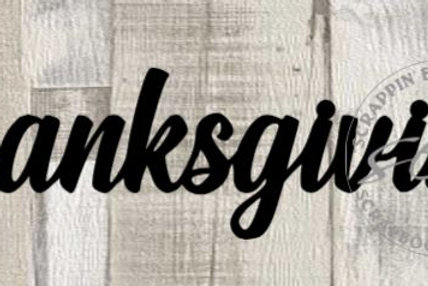 Thanksgiving Scrapbook Page Script Single