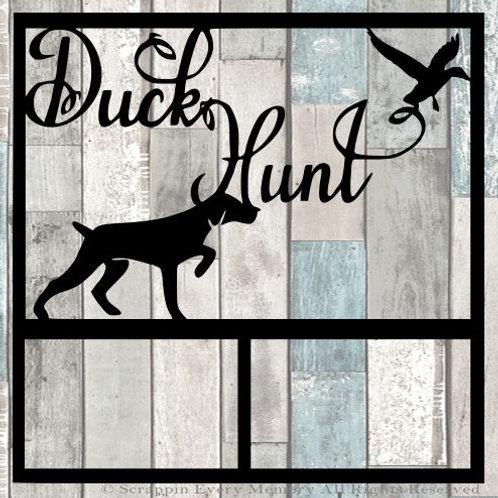 Duck Hunt Scrapbook Overlay