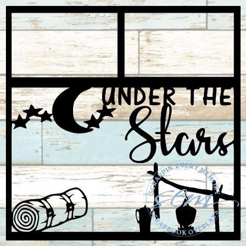Under The Stars Scrapbook Overlay
