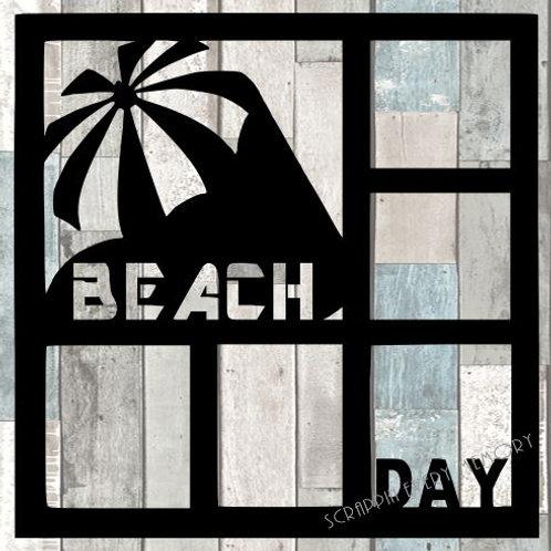 Beach Day Scrapbook Overlay