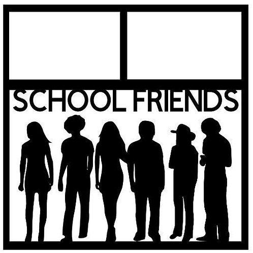 School Friends Scrapbook Overlay