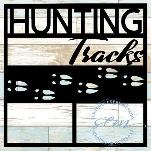 Hunting Tracks Scrapbook Overlay