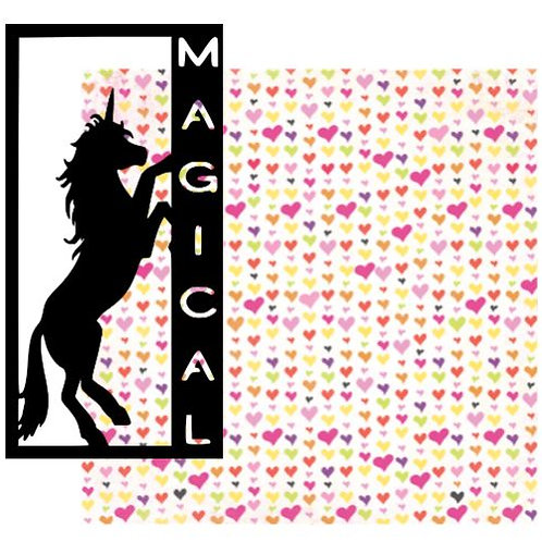 Magical Vertical Scrapbook Title